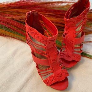 Red Wedge Heel